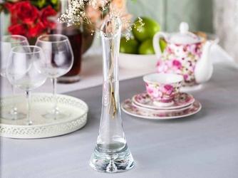 Wazon szklany na kwiaty z łezką edwanex 30 cm
