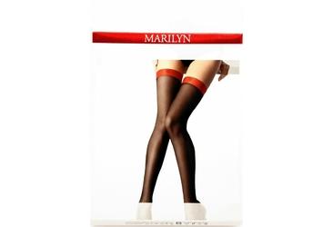 Coco P17 MARILYN pończochy samonośne z czerwoną gumą i serduszkiem