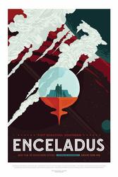 Enceladus - plakat Wymiar do wyboru: 70x100 cm