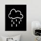 Scandi cloud - plakat dla dzieci , wymiary - 60cm x 90cm, kolor ramki - czarny
