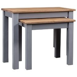 Vidaxl 2 stoliki wsuwane pod siebie, szare, sosnowe, seria panama