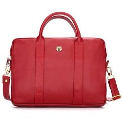 Skórzana torba na laptopa felice gold fg04 czerwona - czerwony
