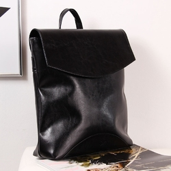 Skórzany plecak damski dan-a t383 czarny - czarny