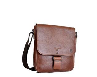Skórzana torba na ramię 2jus by daag stone 3 koniakowa - koniak