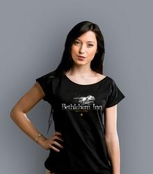 Bethlehem inn t-shirt damski czarny s