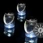 Lampion solarny 3 led - zimny biały szklany