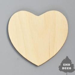 Drewniany magnes - serce - SERC