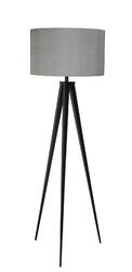 Zuiver lampa podłogowa tripod szaro-czarna 5000800