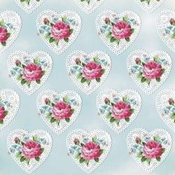 Papier 20,3x20,3 shabby chic small roses - 1 szt. - 167