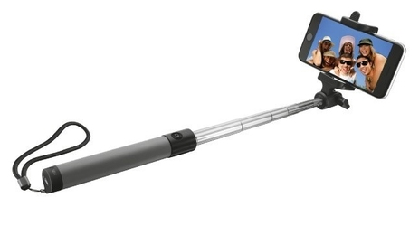 Trust urbanrevolt bluetooth foldable selfie stick - black
