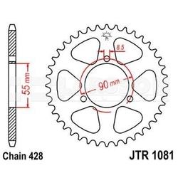 Zębatka tylna stalowa jt r1081-46, 46z, rozmiar 428 2302466 rieju rs-2 125