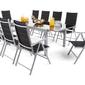 Zestaw ogrodowy stół + 10 krzeseł jobrin czarny