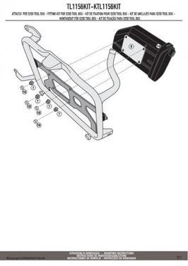 Kappa ktl1156kit mocowanie skrzynki narzędziowej ks250