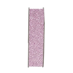 Tasiemka satynowa z brokatem 10 mm3m - soft pink - RÓŻJAS