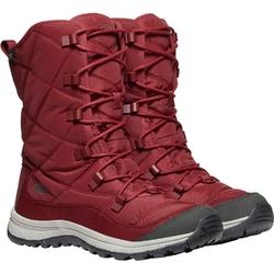 Śniegowce damskie keen terradora lace boot wp - czerwony