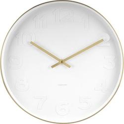 Zegar ścienny Mr. White Gold 37,5 cm
