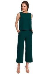 Spodnie 78 z szerokimi nogawkami - zielone