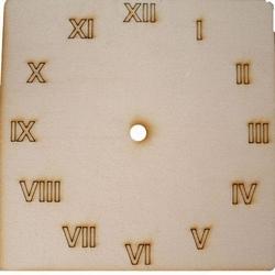 Drewniany zegar kwadratowy 15x15 cm - rzymskie - Produkt Polski || Wielka Wyprzedaż