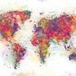 World map colour splash - plakat