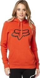 Fox bluza lady z kapturem centered atomic orange