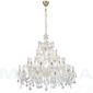 Marietherese lampa wisząca 30 złoty kryształ