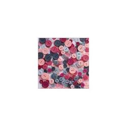 Kolorowe guziki 3 wielkości200szt. - szaro-różow - SZR
