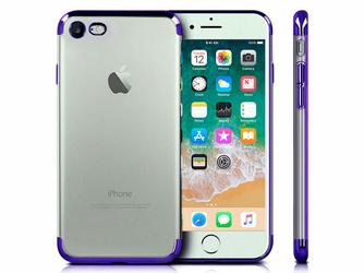 Etui Alogy luxury Apple iPhone 78 błyszczące niebieskie +Szkło - Niebieski