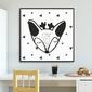 Little deer - plakat dla dzieci , wymiary - 90cm x 90cm, kolor ramki - czarny