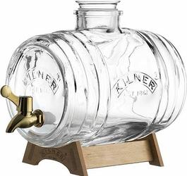 Dystrybutor alkoholu beczułka Kilner z mosiężnym kranikiem