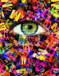 Obraz eye letter
