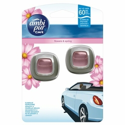 Ambi Pur Car, Jaguar, Flowers, odświeżacz powietrza do samochodu, 2x2ml