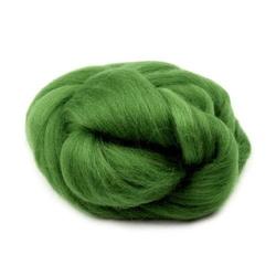 Wełna czesankowa 20g - zielony - ZIEL