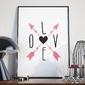 Love and arrows - plakat w ramie , wymiary - 70cm x 100cm, ramka - czarna
