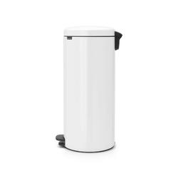 Brabantia - kosz newicon - 30 l - metalowe wiadro i wolnoopadająca pokrywa - biały - biały