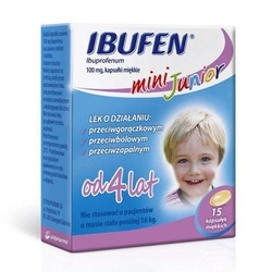 Ibufen mini junior 0,1g x 15 kapsułek