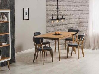 Stół nowoczesny rozkładany - lite drewno - 150190 cm - ursa