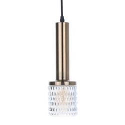 Hk living :: lampa wisząca mosiądzszkło