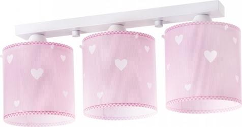 Lampa sufitowa sweet dreams pink serduszka dalber listwa