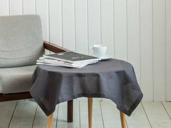 Obrus  serweta na stół altom design kwadratowy bawełniany brązowy  taupe 80 x 80 cm