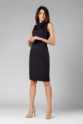 Czarna ołówkowa sukienka z kokardą