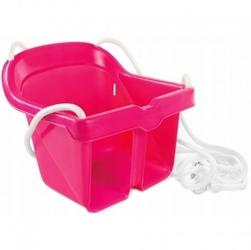 Huśtawka kubełkowa bezpieczna różowa mochtoys