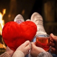 Gorąca poduszka serce
