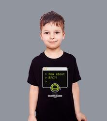 Rfc t-shirt dziecięcy czarny 146