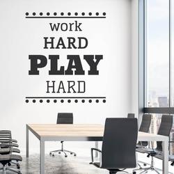 Szablon na ścianę work hard play hard 2429