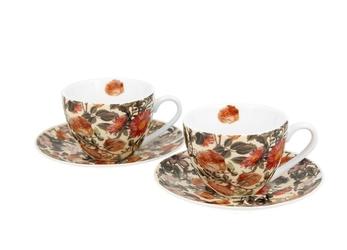 Duo filiżanki espresso ze spodkami 110 ml komplet 2 szt. floral dream