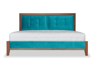 łóżko klematisar bergen tkanina łatwoczyszcząca deluxe  200x200 deluxe - welur łatwozmywalny celadon