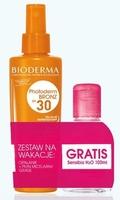 Bioderma photoderm bronz spf30 spray przyspieszający opalane 200ml + płyn micelarny sensibio h2o 100ml gratis