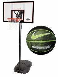 Zestaw do koszykówki Lifetime New York Downtown + Piłka Nike Dominate 8P - NKI0004407-044