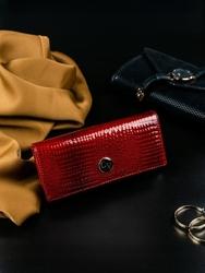 Ekskluzywny skórzany portfel damski czerwony cavaldi h27-1 - czerwony