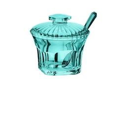 Guzzini - belle epoque - cukiernica z łyżeczką, niebieski - niebieski